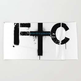 FindChaos - Logo Beach Towel