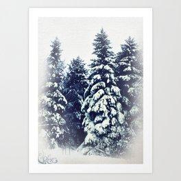 Les grandes dames de l'hiver Art Print