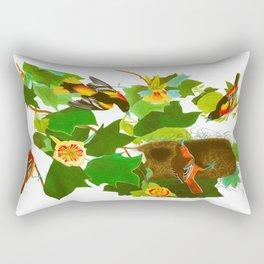 Baltimore Oriole James Audubon Vintage Scientific Illustration American Birds Rectangular Pillow