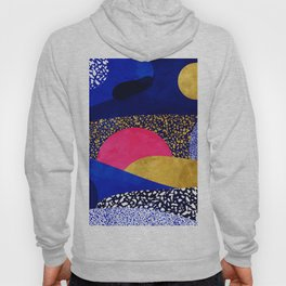 Terrazzo galaxy blue night yellow gold pink Hoody