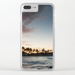 Sunrise at Poipu beach in Kauai, Hawaii Clear iPhone Case