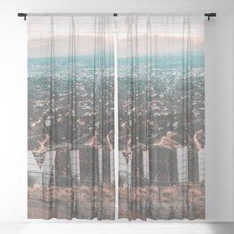 Hollywood Sign Sheer Curtain