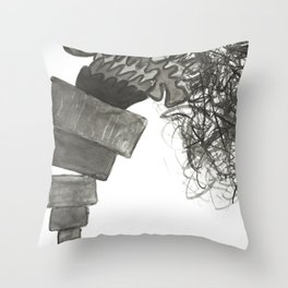 A Pile is Toppling Over Throw Pillow