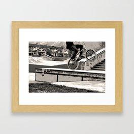 Wheelie Master  - BMX Biker Framed Art Print