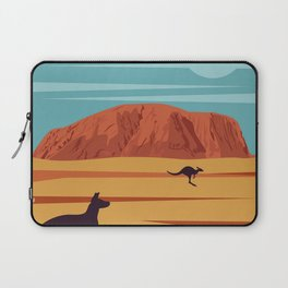 Ayers Rock Australia, Uluru Travel Poster Laptop Sleeve