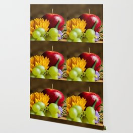 An autumn gifts still life on the blurred background Wallpaper