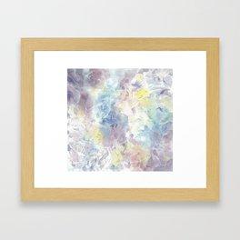White Opal Framed Art Print