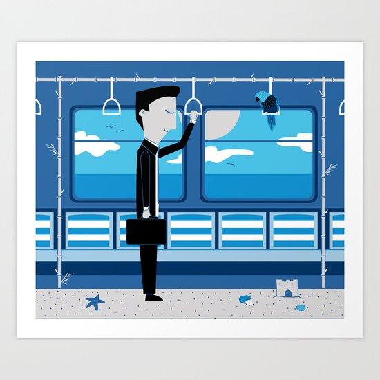Dreaming of Holidays Art Print