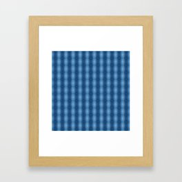 Denim Diamond Waves vertical patten Framed Art Print