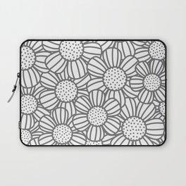 Field of daisies - gray Laptop Sleeve