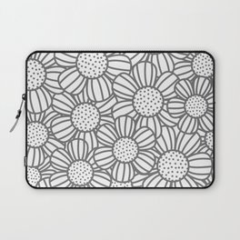 Field of daisies - gray Laptop Sleeve