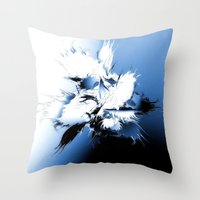 angel wings Throw Pillows featuring Angel Wings by Brian Raggatt