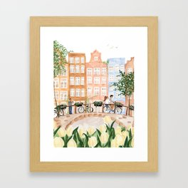 Amsterdam in the Spring Framed Art Print