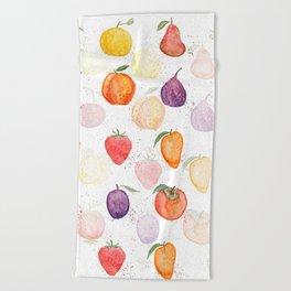 Fruit party Beach Towel
