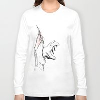 anxiety Long Sleeve T-shirts featuring Anxiety by EL Pablo