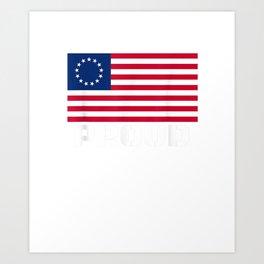 Betsy Ross Flag For Americans  T-Shirt Art Print