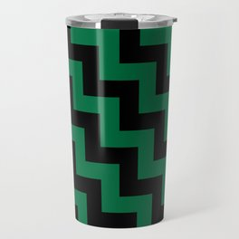 Black and Cadmium Green Steps LTR Travel Mug