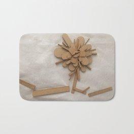 Wood Flower Bath Mat