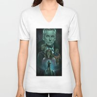 soldier V-neck T-shirts featuring Soldier by rnlaing