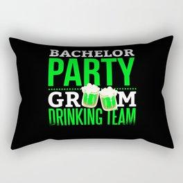Bachelor Party Drinking Team Groom Rectangular Pillow
