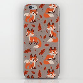 Cute Foxes iPhone Skin