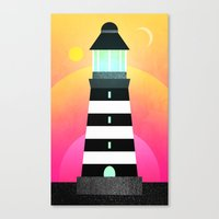 lighthouse Canvas Prints featuring Lighthouse by Elisabeth Fredriksson