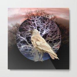 White Bird Twilight Metal Print