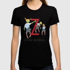 Z is for Zombies LARGE Black Womens Fitted Tee