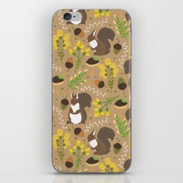 Chocolate squirrels iPhone Skin