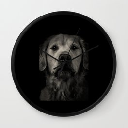 Family Dog - Peyton the Serious Dog Wall Clock