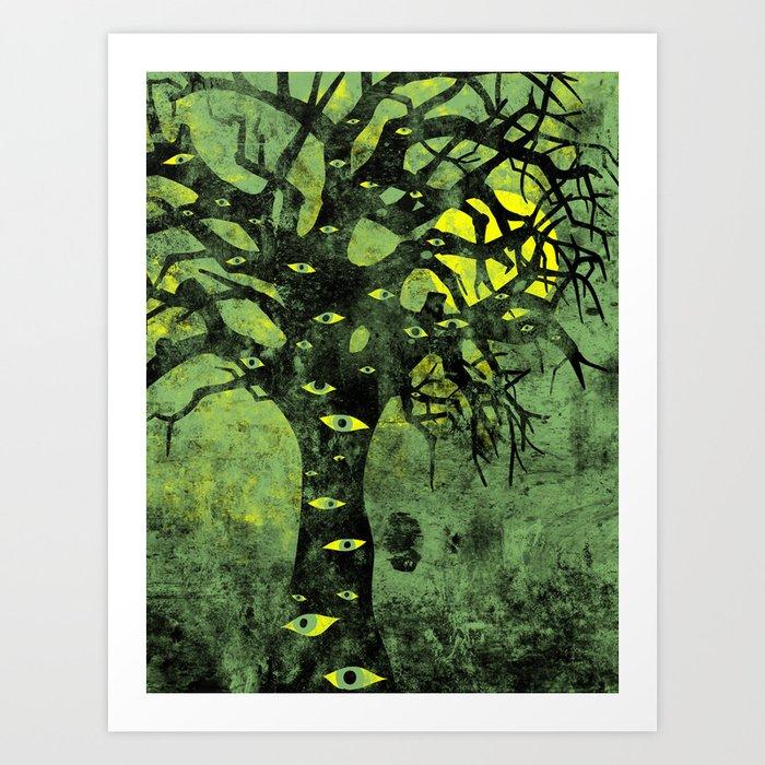 the Vision Tree (green) Art Print