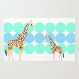 waterproofed giraffe Rug