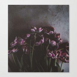 Dark Purple Floral (Color) Canvas Print