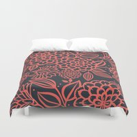 santa monica Duvet Covers featuring Santa Monica Polly  by November Tigerlilly