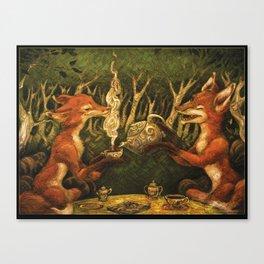 FancyFoxTeaParty Canvas Print