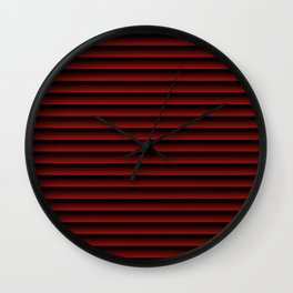 stripes background dark red with black Wall Clock