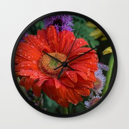 Colorful Wildflowers Wall Clock
