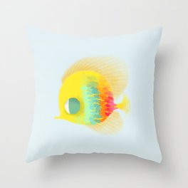 Bajo del mar Throw Pillow