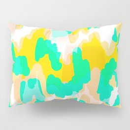 Sara - bright turquoise, green, blue abstract art Pillow Sham