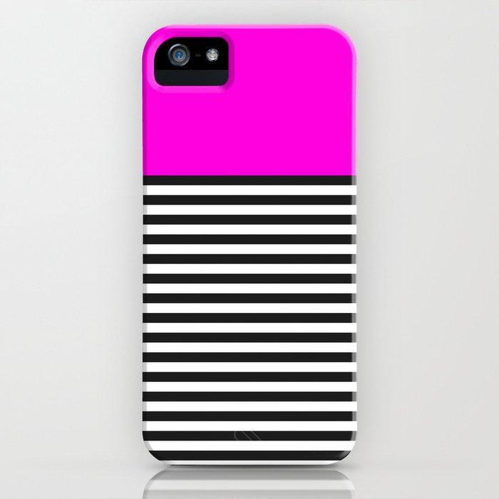 STRIPE COLORBLOCK {PINK} iPhone Case