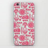 folk iPhone & iPod Skins featuring folk whale by ottomanbrim