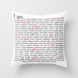 I am... Throw Pillow