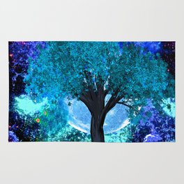 TREE MOON NEBULA DREAM Rug