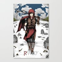roosterteeth Canvas Prints featuring Medieval Huntress Ruby Rose by OreadArt