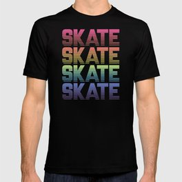 Rainbow Gradient Skate T-shirt