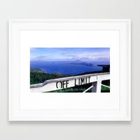 philippines Framed Art Prints featuring OFF LIMIT (Philippines) by Julie Maxwell