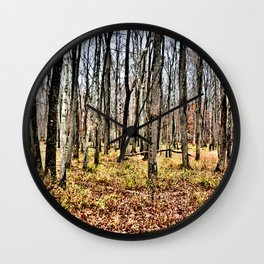 Fall in the Woods Wall Clock