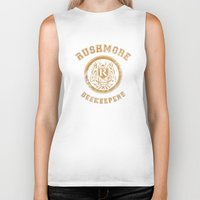 rushmore Biker Tanks featuring Rushmore Beekeepers Society by steeeeee