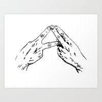 alt j Art Prints featuring Alt-J by Neal Julian