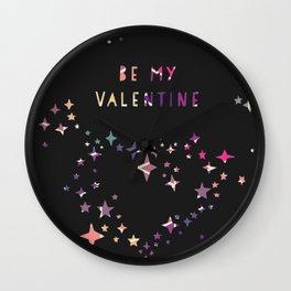Be my valentine wall art print Wall Clock
